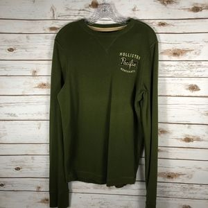 Olive Green Hollister Pacific Merchants Sweater